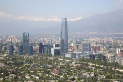 Panoramic view of Santiago de Chile Royalty Free Stock Photo