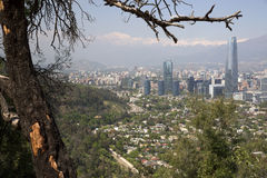 Panoramic view of Santiago de Chile Stock Image