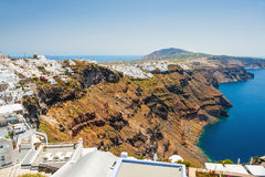Panoramic view of Santorini island, Greece Stock Photography
