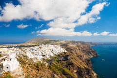 Panoramic view of Santorini island, Greece Stock Photo