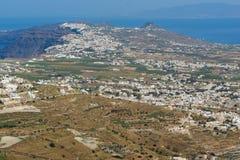 Panoramic view of Santorini island, Thira, Greece Stock Photography