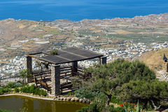 Panoramic view of Santorini island, Thira, Greece Stock Photo