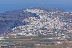 Panoramic view of Santorini island, Thira, Greece Royalty Free Stock Image