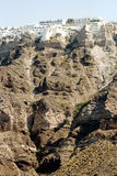 Panoramic view of Santorini's city Stock Photo
