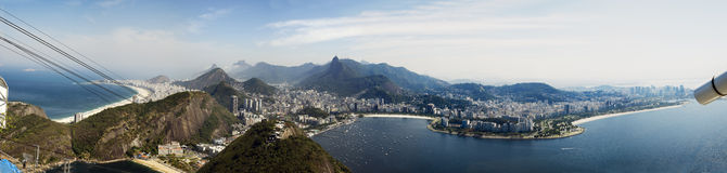 Panoramic view of the Sao Paolo bay Stock Photo