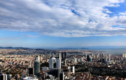 Panoramic view from Sapphire Tower in Istanbul, Turkey Stock Image