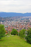 Panoramic View of Sarajevo Royalty Free Stock Photography