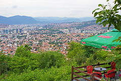 Panoramic View of Sarajevo Stock Photo