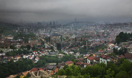 Panoramic view. Sarajevo. Bosnia and Herzegovina Royalty Free Stock Image