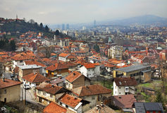 Panoramic view of Sarajevo. Bosnia and Herzegovina Stock Photography