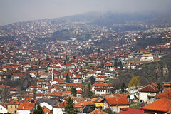 Panoramic view of Sarajevo. Bosnia and Herzegovina Royalty Free Stock Photos