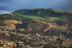 Panoramic view of Sarajevo. Bosnia and Herzegovina Royalty Free Stock Photo