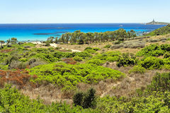 Panoramic view of Sardinia Stock Photography