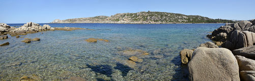 Panoramic view of Sardinia beach Royalty Free Stock Photos