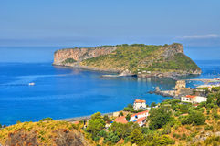 Panoramic view of Scalea. Calabria. Italy. Stock Photography