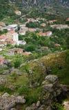 Panoramic view, Scene with Kruja old building village, Bazaar street,fort, Tirana in Albania. Royalty Free Stock Photo