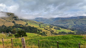 Panoramic view of scenic Banks Peninsula in Canterbury Stock Images
