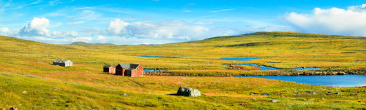 Panoramic view of scenic landscape in Norway stock images