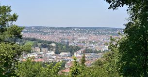Panoramic view from Schiller eiche, Stuttgart Royalty Free Stock Images
