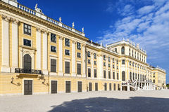 Panoramic view of Schonbrunn Palace in Vienna, Austria Royalty Free Stock Images