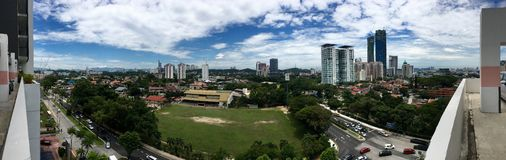 Panoramic view of School Field and surrounding in Petaling Jaya Stock Photography