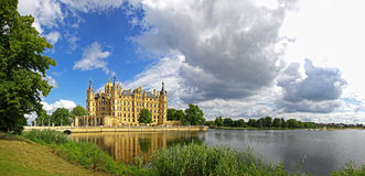 Panoramic view of Schwerin Castle, Germany Stock Image