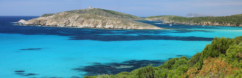 Panoramic view of the sea. Panoramic view of Tuerredda - Sardinia - Italy Royalty Free Stock Image