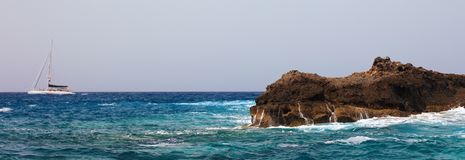 Panoramic view of sea. Stock Photos