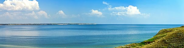 Panoramic view of the sea bay Royalty Free Stock Photos