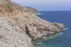 Panoramic view of the sea coast with turquoise water. East coast Stock Photo