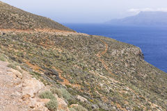 Panoramic view of the sea coast with turquoise water. East coast Royalty Free Stock Photo