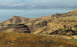 Panoramic view Sea of Galilee Royalty Free Stock Photo