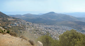 Panoramic view from Sea of Galilee to Mediterranean Sea, Israel Stock Images