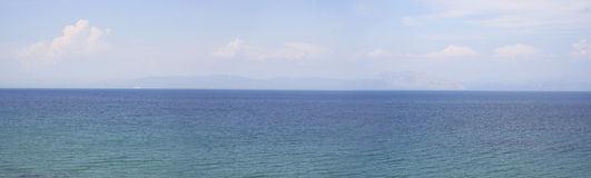 Panoramic view on the sea, Greece Royalty Free Stock Photos