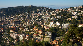 Panoramic view of sea port of City of Nice Royalty Free Stock Image