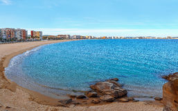 Panoramic view of the sea shores of the Mediterranean. Spain. Co Stock Images
