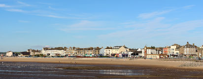 Panoramic view seafront Morecambe, Lancashire Stock Photo