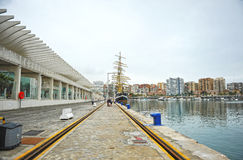 Panoramic view of the seaport of Malaga, Andalusia, Spain, Andalucia, Spain Royalty Free Stock Image
