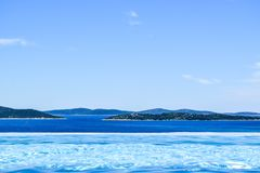 Panoramic view of the seascape royalty free stock image