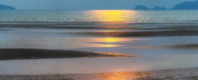 Panoramic view seashore Royalty Free Stock Photo