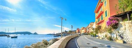 Resort town Villefranche-sur-Mer. Cote d`Azur, France stock photos