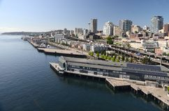 Panoramic view of Seattle Waterfront Stock Photo