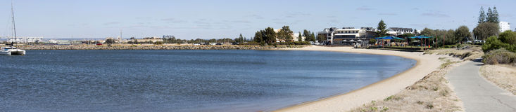 Panoramic View of the Secluded Beach at Jetty Baths Royalty Free Stock Photos