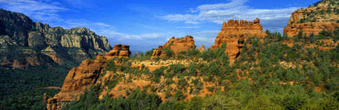 Panoramic View, Sedona, Arizona Stock Image
