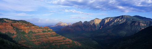 Panoramic View, Sedona, Arizona Royalty Free Stock Images
