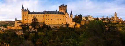 Panoramic view of  Segovia Royalty Free Stock Image
