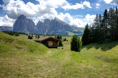 Panoramic View of the Seiser Alm Stock Photography