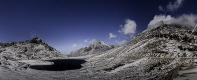 Panoramic view of sela pass royalty free stock image
