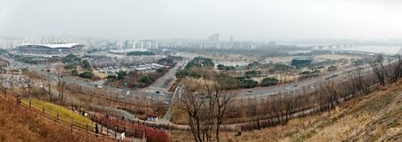 Panoramic view of Seoul Royalty Free Stock Photo