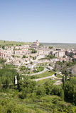 Panoramic view of Sepulveda village. Spain Royalty Free Stock Photos